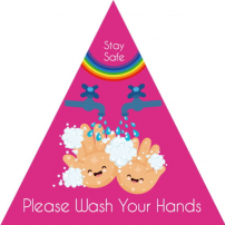 Please Wash Your Hands - Stay Safe - Triangle