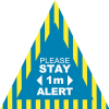 Stay Alert 1m Floor Stickers - Triangle