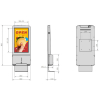 Wall Mounted Digital Sanitising Station dimensions