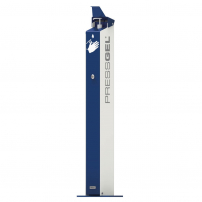 Pressgel outdoor sanitising station with logo print