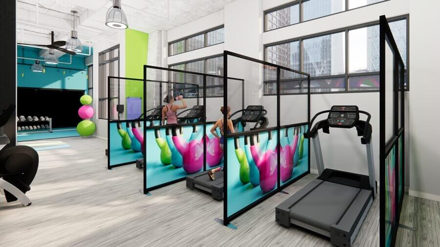 Gym protection screens