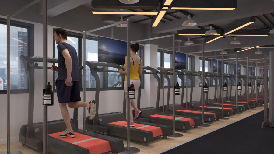 Gym protective screens