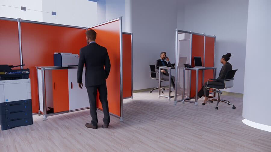 Office protection screens 3