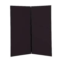 2 panel large display boards - Black PVC frame with Black Nyloop