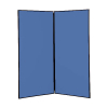 2 panel large display boards - Black PVC frame with Blueberry Nyloop
