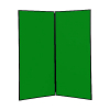 2 panel large display boards - Black PVC frame with Green Nyloop