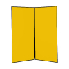 2 panel large display boards - Black PVC frame with Yellow Nyloop