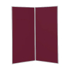 2 panel large display boards - Grey PVC frame with Wine Nyloop