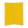 2 panel large display boards - Grey PVC frame with Yellow Nyloop