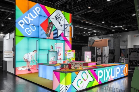 Full exhibition stand - 3 - PIXLIP GO Lightbox Display