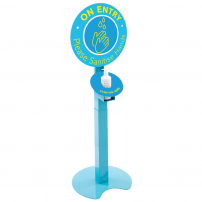 Branded sanitising station - adjustable height