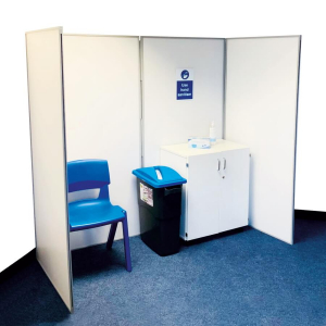4 panel vaccination and testing booths