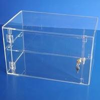 Acrylic display case 300mm x 500mm x 300mm