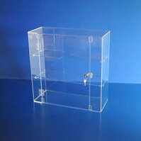 Acrylic display case 500mm x 500mm x 200mm