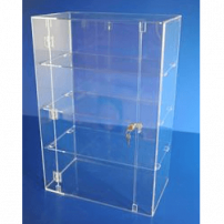Acrylic display case 750mm x 500mm x 300mm