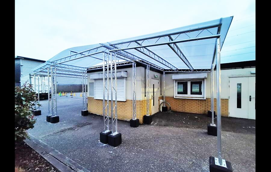 Outdoor shelter for school